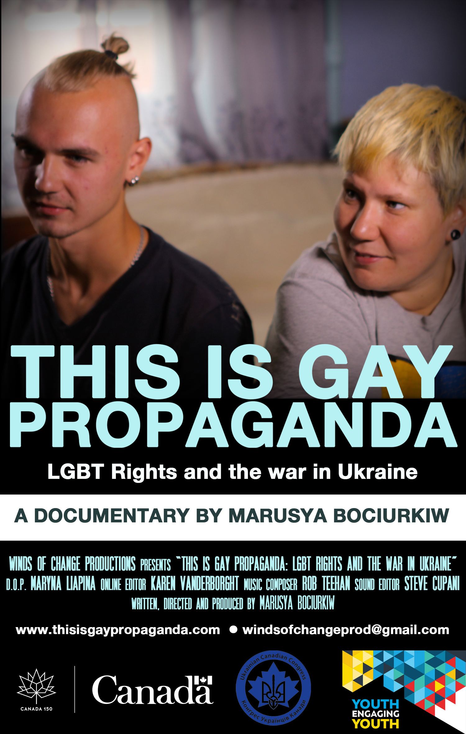 """About """"This Is Gay Propaganda: LGBT Rights and the war in Ukraine"""" Film Screening"""