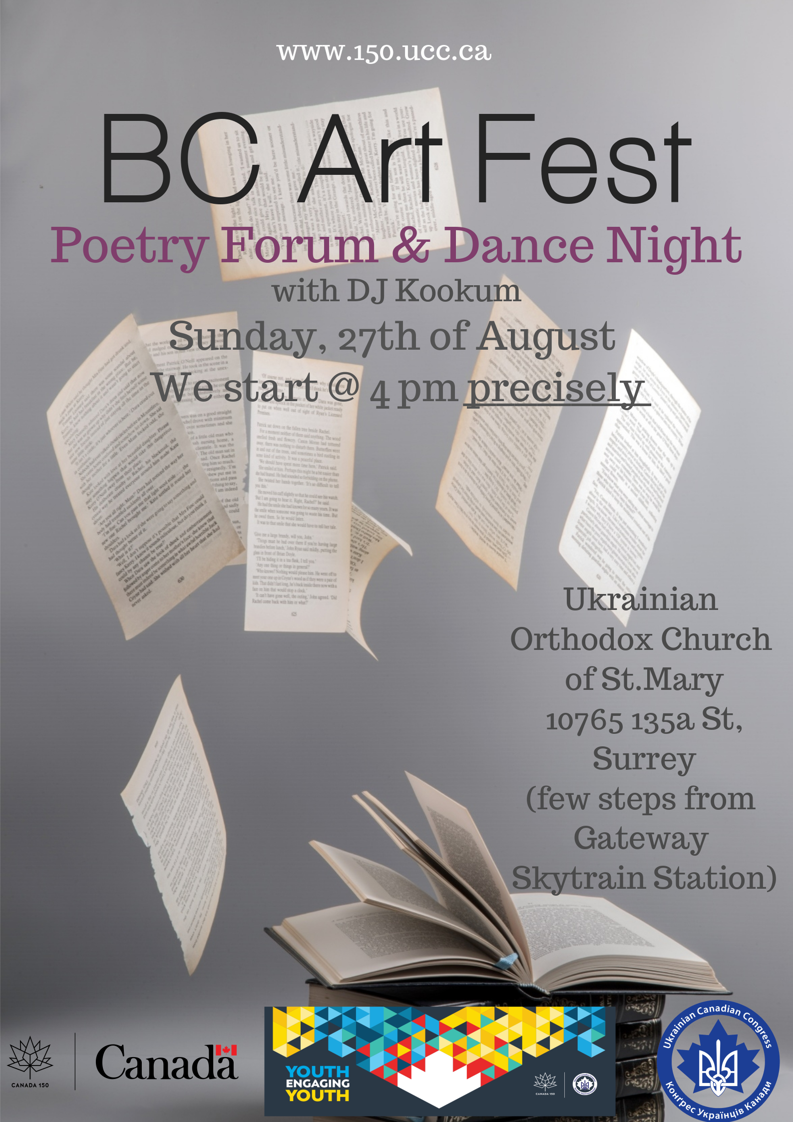 BC Art Fest: Poetry Forum and Dance Night